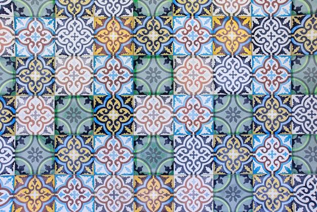 Piastrelle marocchine con il tradizionale arabo arabo piastrelle motivi sullo sfondo Foto Premium