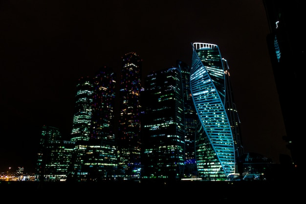 Città di mosca di notte Foto Premium