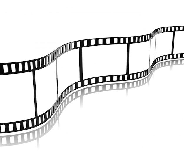 Striscia di pellicola cinematografica Foto Premium