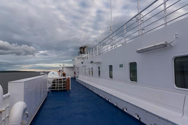 Traghetto mv fundy rose nella baia di fundy, new brunswick, canada Foto Premium