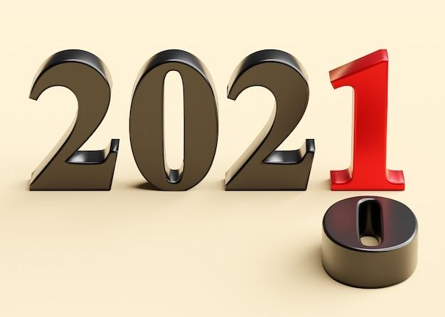 Il nuovo anno 2021 sostituisce il vecchio 2020 Foto Premium