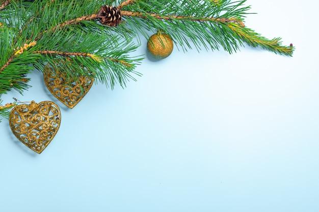 Sfondo di natale e capodanno. decorazione. noel sfondo festivo Foto Premium