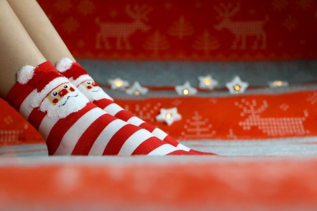 Calzini di capodanno Foto Premium