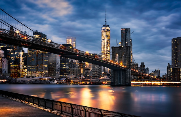 Luci di new york city Foto Premium