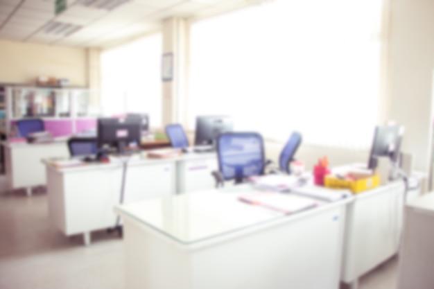 Fondo dell'ufficio, interno vago dell'ufficio. Foto Premium