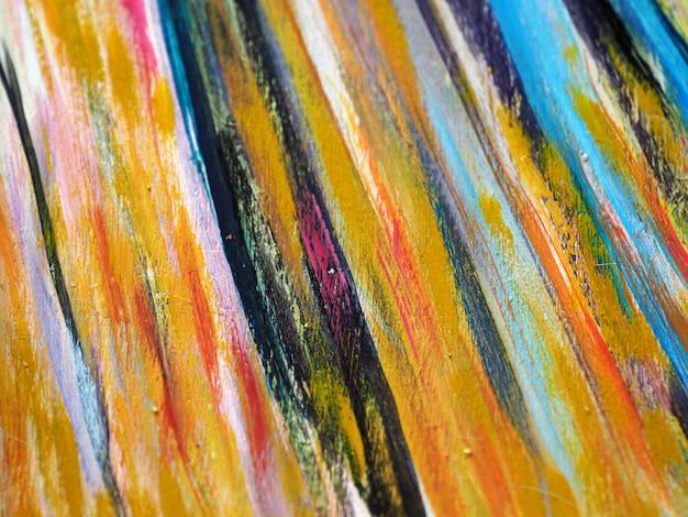 Estratto variopinto e struttura del colpo della spazzola della pittura a olio. Foto Premium