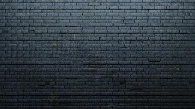 Vecchio muro di mattoni neri Foto Premium