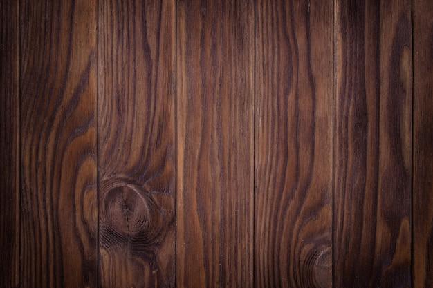 Vecchia parete di legno marrone, struttura della foto dettagliata. Foto Premium