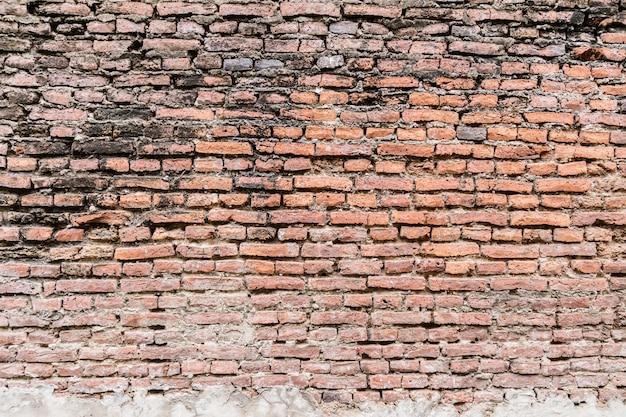 Vecchio fondo di struttura del muro di mattoni rustico Foto Premium