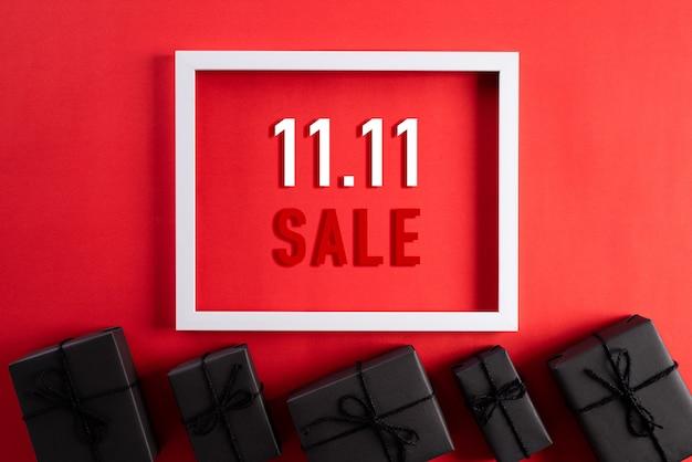 Shopping online della cina, 11.11 concetto di vendita per single. Foto Premium