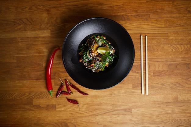 Sfondo di cucina orientale Foto Premium