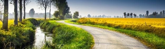 Paesaggio rurale originale del paese Foto Premium