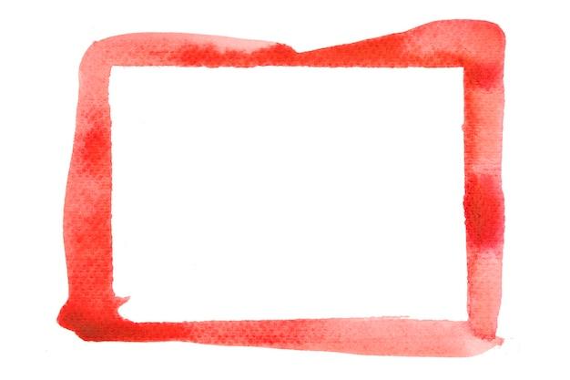 Dipingi la trama del colore del tratto di pennello con tratti rossi con spazio per il tuo testo Foto Premium