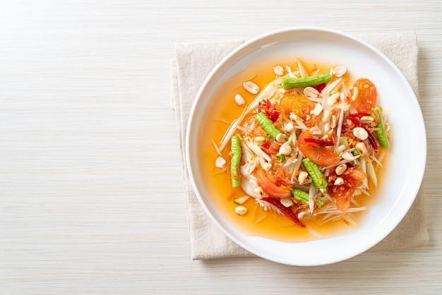 Insalata piccante di papaya Foto Premium