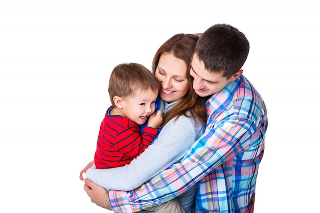 I genitori giocano con il figlio Foto Premium