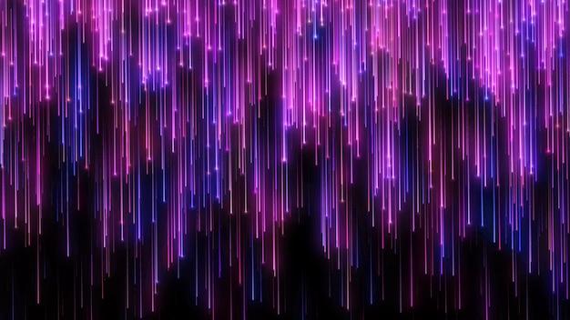 Pioggia di particelle. elegante sfondo festivo blu e viola. premio di lusso Foto Premium
