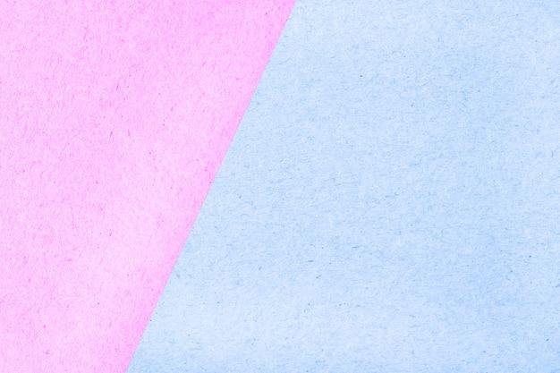 Struttura dell'estratto della scatola di carta di superficie colorata pastello per fondo, rosa e blu Foto Premium