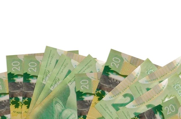 Pila di banconote da un dollaro canadese Foto Premium