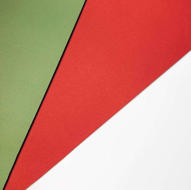 Pila di carte colorate laici piatta Foto Premium