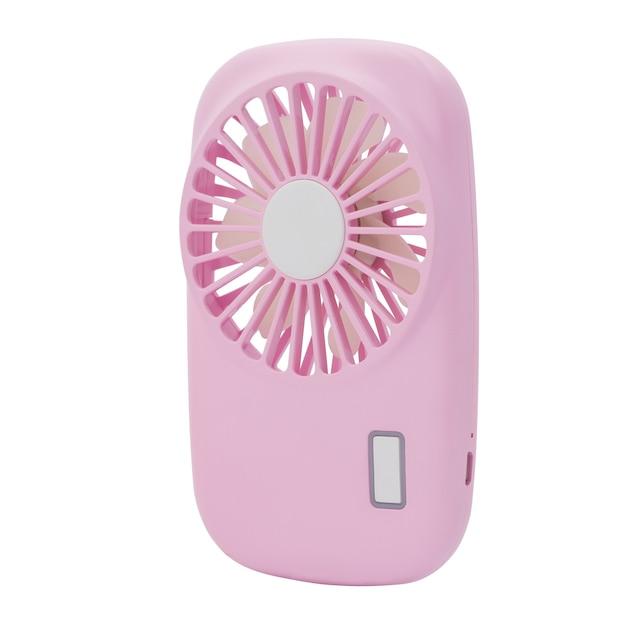 Mini ventilatore rosa. usb del ventilatore portatile su priorità bassa bianca. Foto Premium