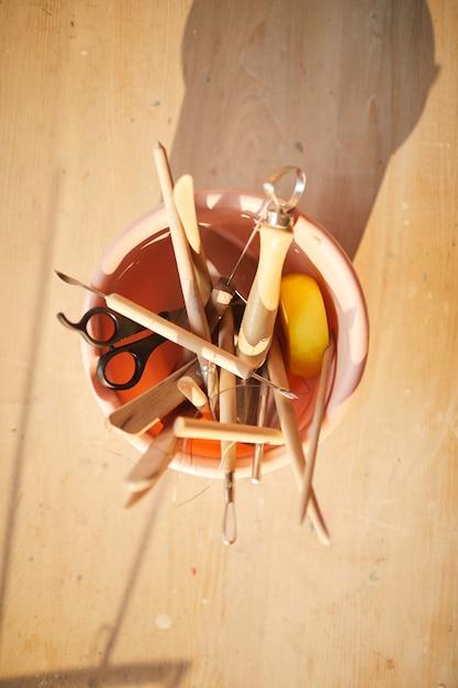 Strumenti di ceramica Foto Premium
