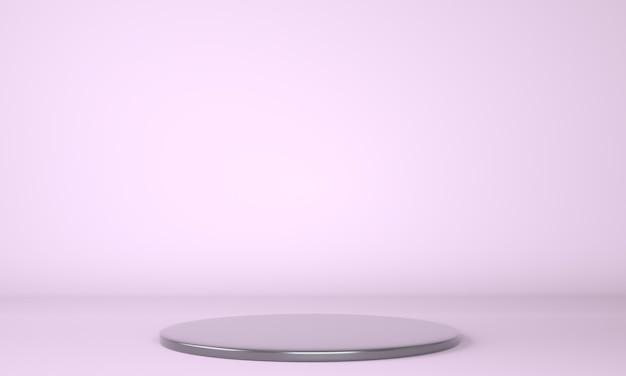 Podio del prodotto su sfondo pastello 3d Foto Premium
