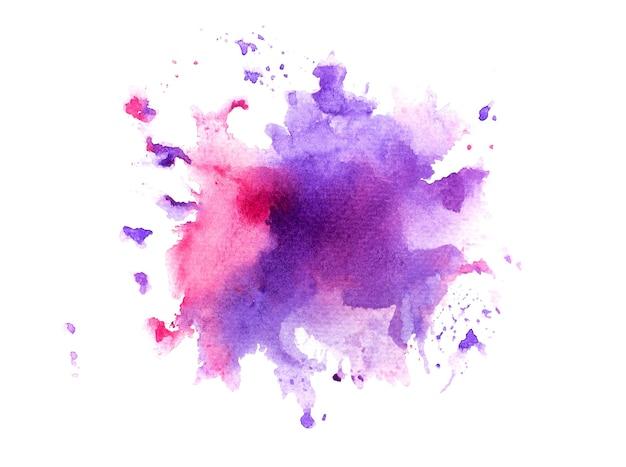 Sfondo acquerello macchia viola. Foto Premium