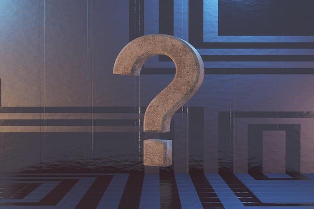 Punto interrogativo su uno sfondo di fantascienza Foto Premium