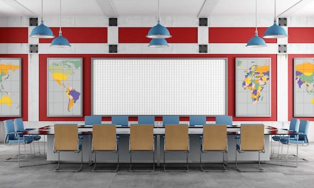 Sala riunioni rossa e blu Foto Premium