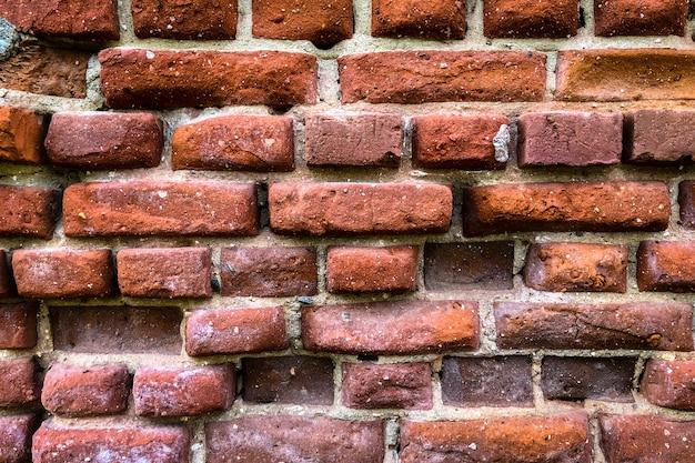 Struttura del muro di mattoni rossi Foto Premium