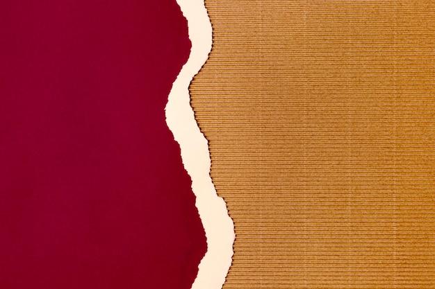 Disegno di sfondo di forma di carta rossa Foto Premium