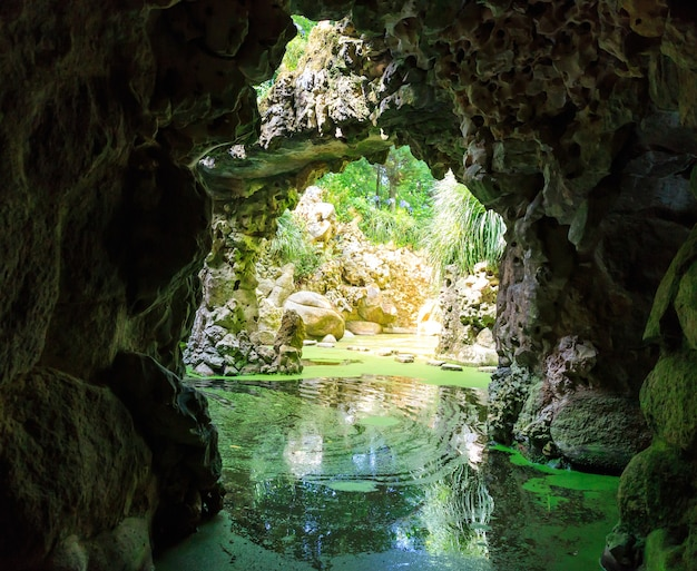 Fiume nelle grotte Foto Premium