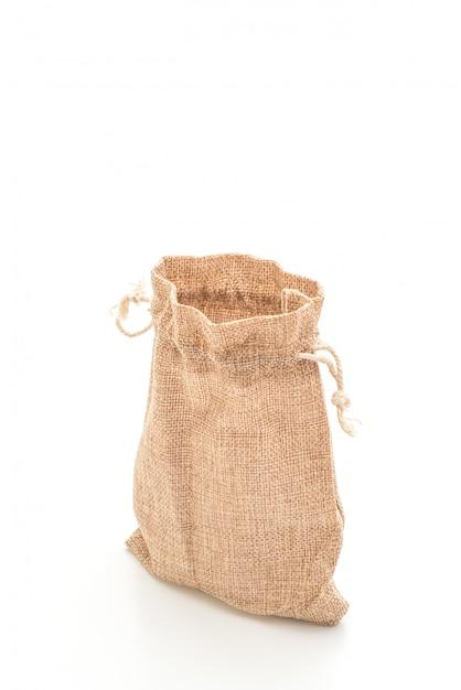 Borsa in tessuto a sacco Foto Premium