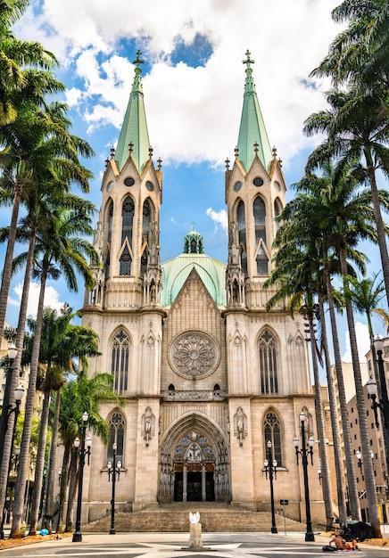 La cattedrale metropolitana di san paolo in brasile Foto Premium