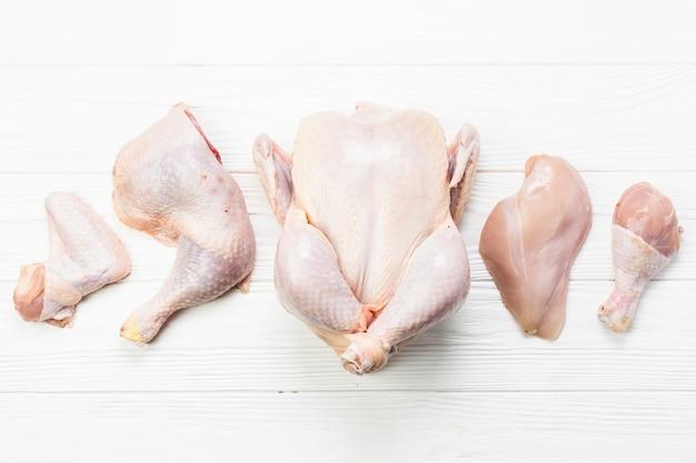 Set di parti di pollo Foto Premium