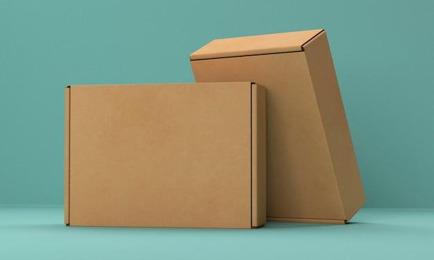Set di due scatole di cartone Foto Premium