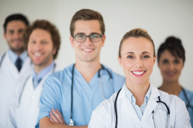 Equipe medica sorridente Foto Premium