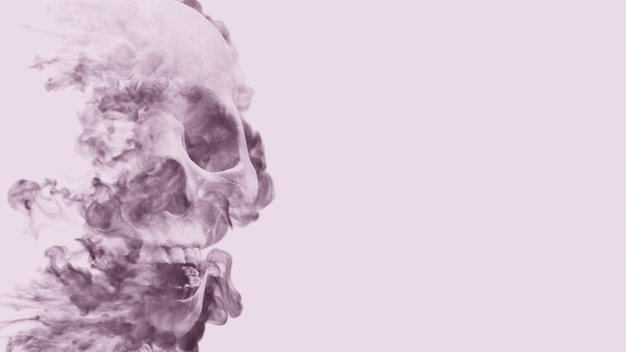 Fumo cranio sullo sfondo Foto Premium