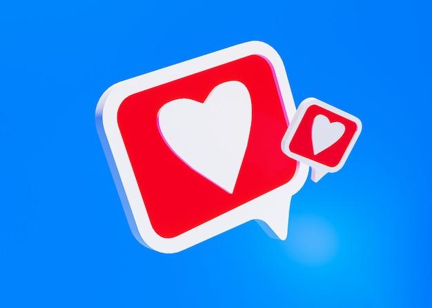 Icona dei social media, come il simbolo sul blu Foto Premium
