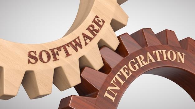 Integrazione software scritta su ruota dentata Foto Premium