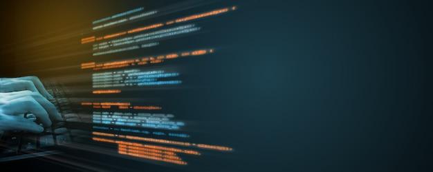 Codifica sorgente software. Foto Premium