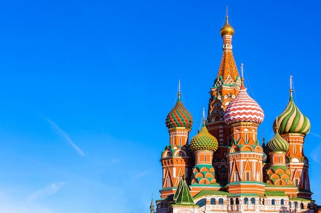 Cattedrale di san basilio sulla piazza rossa di mosca Foto Premium