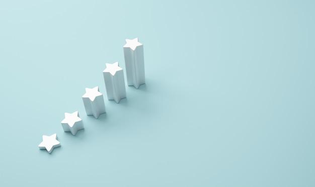 Forma della scala con le cinque stelle. Foto Premium