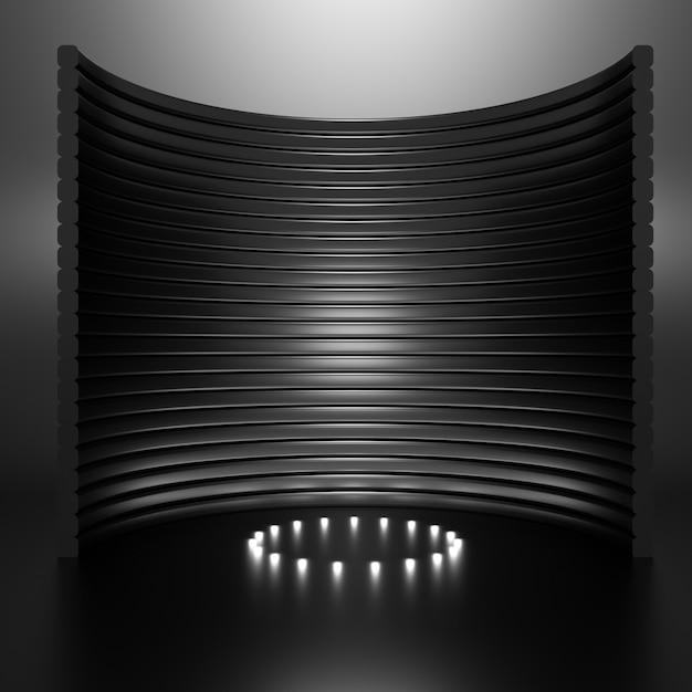 Elegante lusso elegante studio piedistallo illustrazione Foto Premium