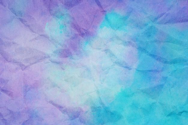 Texture di carta stropicciata blu e viola Foto Premium