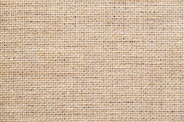 Trama di tela di sacco per lo sfondo. Foto Premium