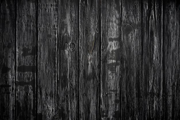 Vista superiore del fondo di legno nero di struttura, spazio in bianco di legno della tavola per progettazione. Foto Premium