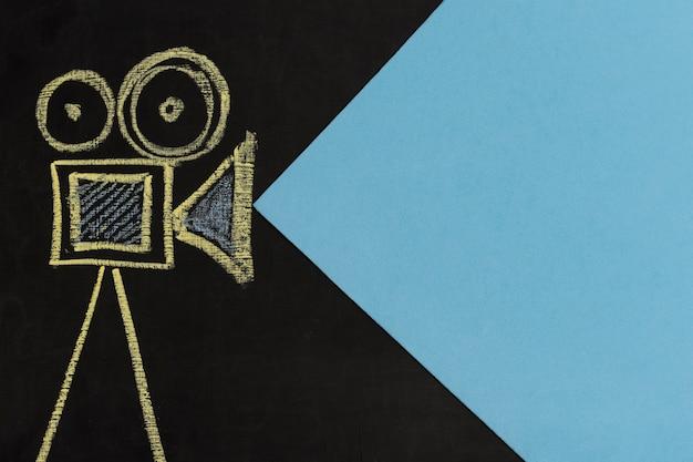 Disegno della telecamera vista dall'alto Foto Premium
