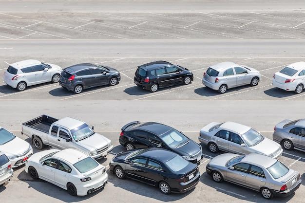 Vista dall'alto del parcheggio Foto Premium