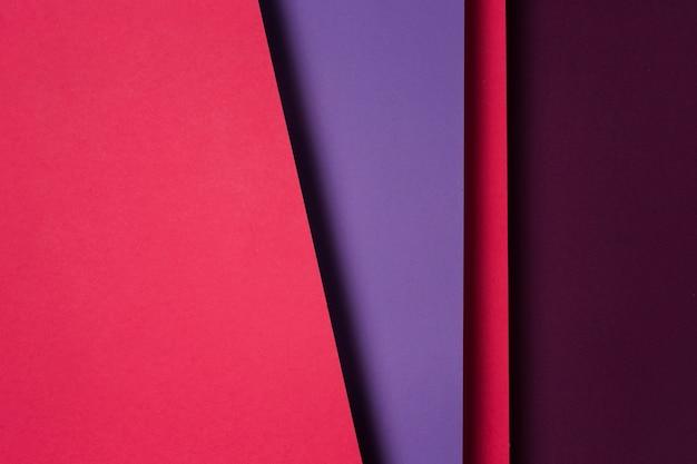 Vista dall'alto composizione di fogli di carta colorata Foto Premium
